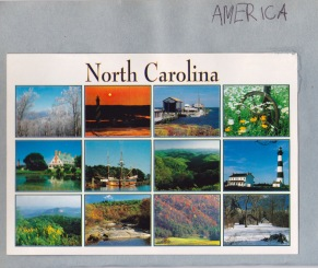 postcard scrapbook north carolina