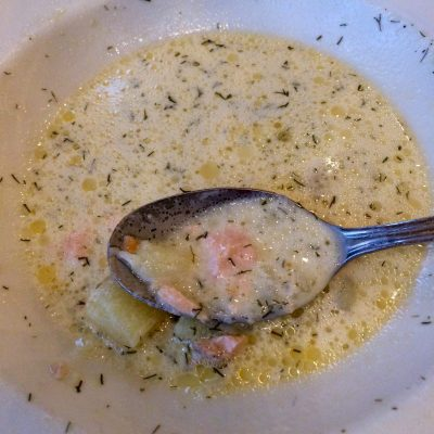 Lohikeitto (Finnish Salmon Dill Soup)